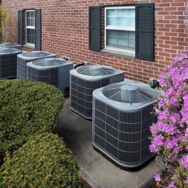 air conditioner systems outside of a home