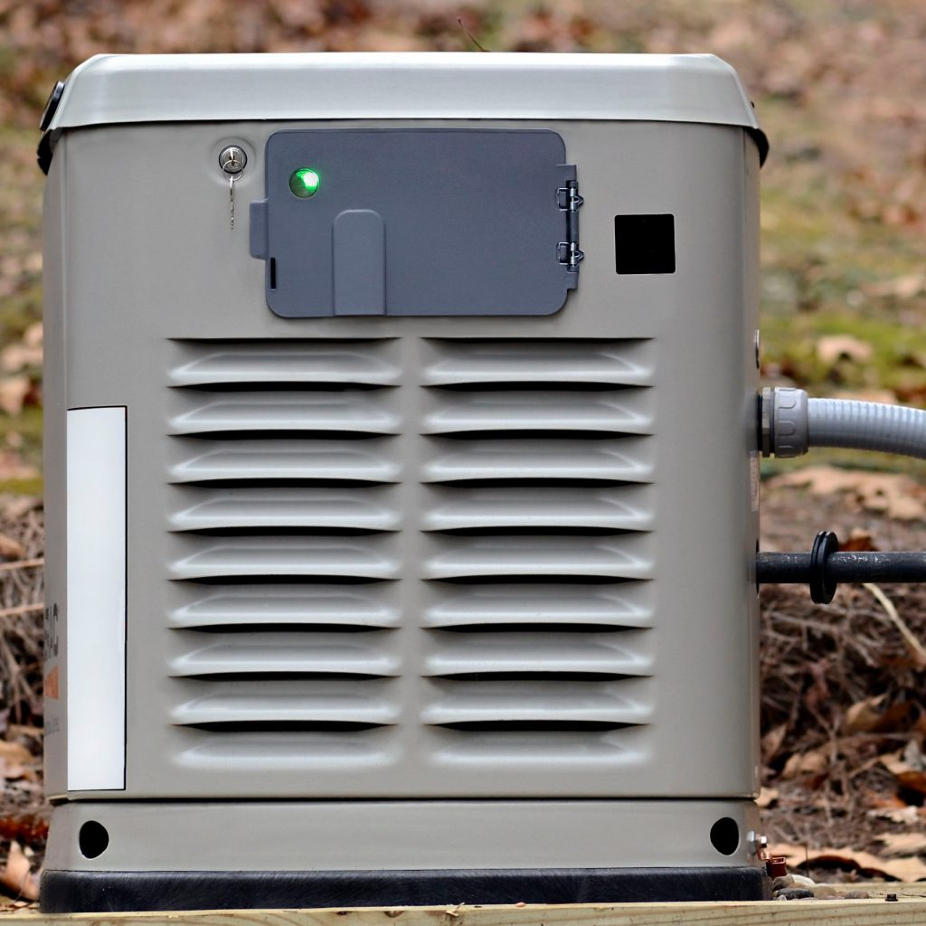 generator with green light on