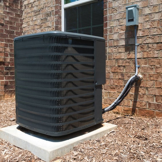 air conditioner installed outside