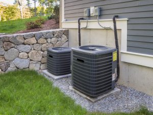 HVAC Units in Backyard of a Home