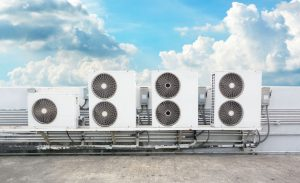 HVAC Systems on top of a Commercial Roof