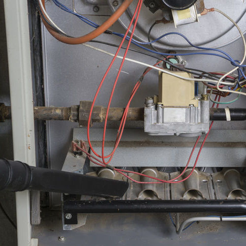 Furnace repair includes cleaning critical components.